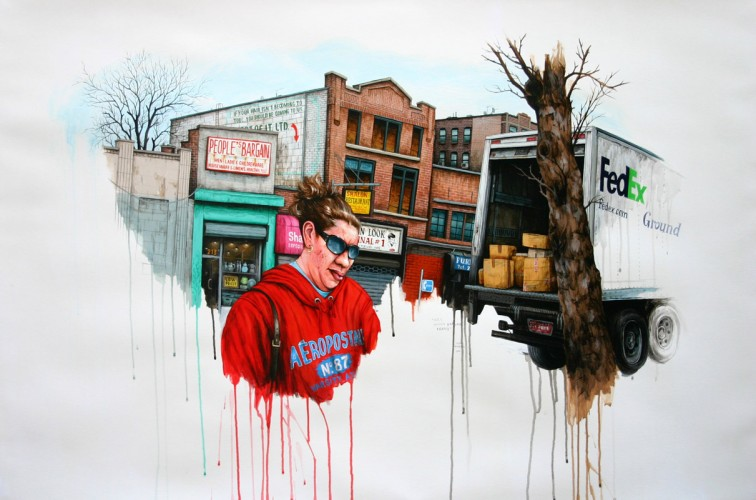 NYC---People's-Bargain---Bronx---acrylic-on-paper---76-x-116-cm---2006