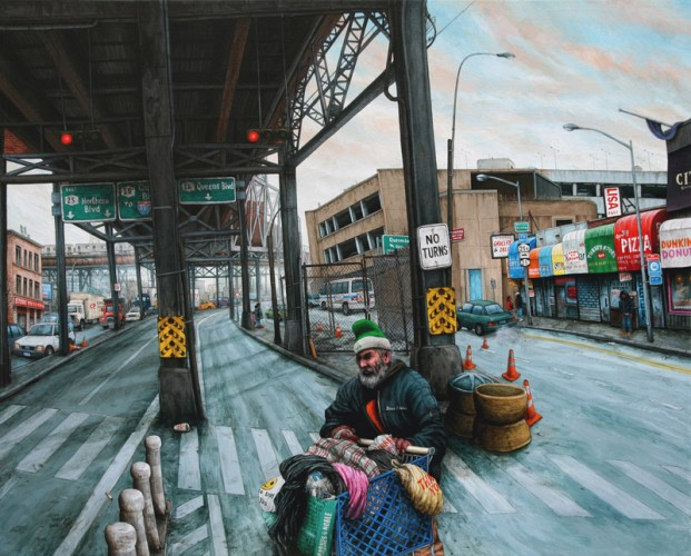 NYC---Queensboro-Plaza---acrylic-on-wood---60-x-73-cm---2008