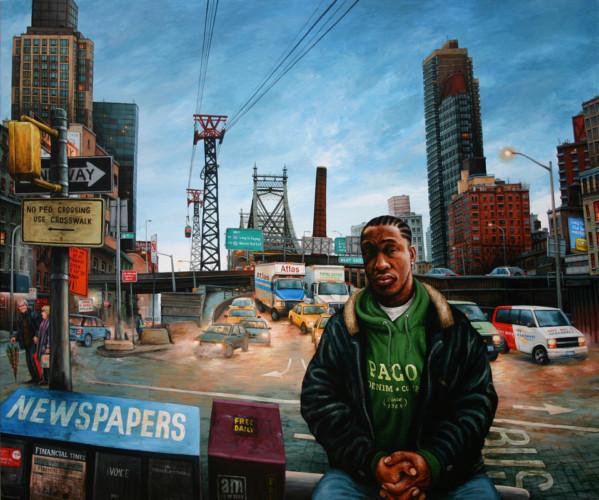NYC---Sous-le-téléphérique---acrylic-on-wood---90-x-107-cm---2007