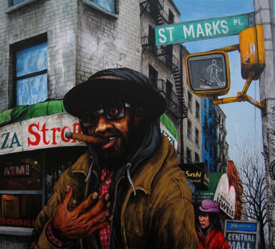 NYC---Tiger---acrylique-sur-bois---38-x-43-cm---2006