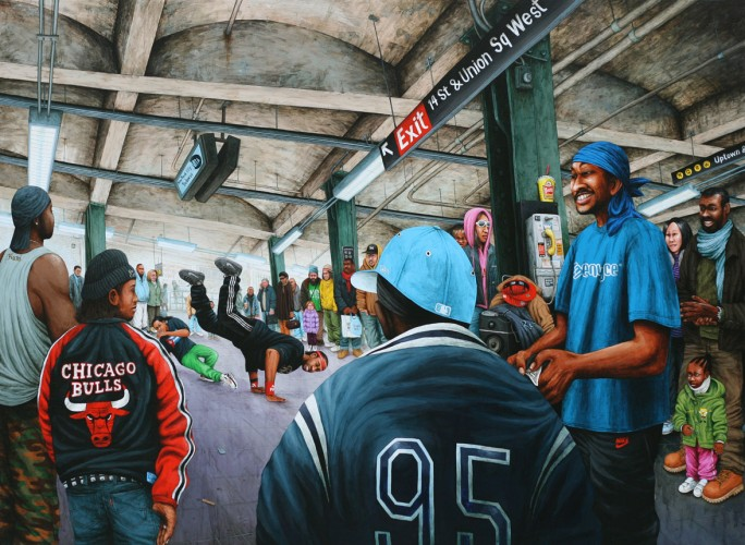 NYC---Union-Square's-B-Boys---acrylic-on-wood---89-x-122-cm----2008