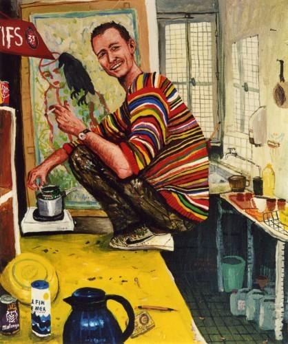 Philippe---acrylique-sur-bois---37-x-31-cm---2002