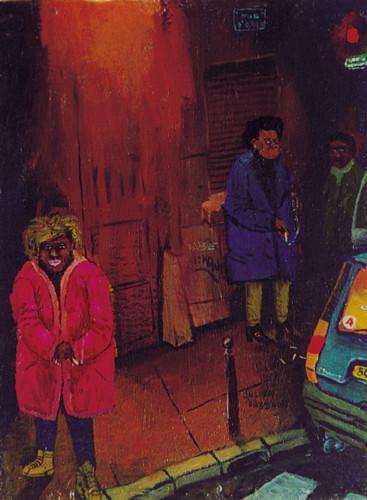 Prostituees---acrylique-sur-bois---24,5-x-19,5-cm---2001