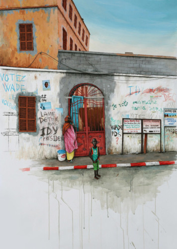 Saint-Louis---Mur-politique---acrylic-on-paper---125-x-87,5-cm---2009