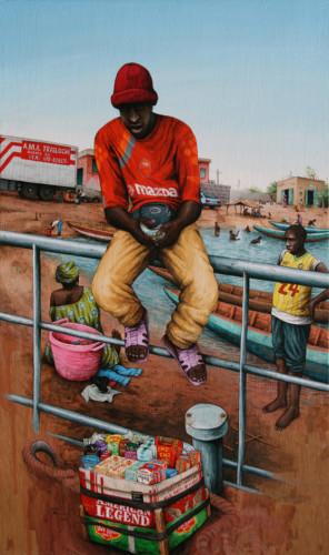Senegal,-Rosso---Tom-Tom---acrylic-on-wood---51-x-30,5-cm----2008