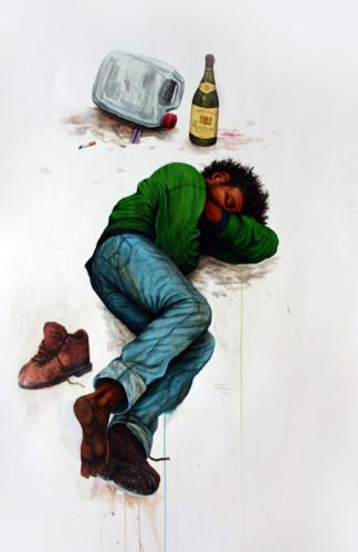 Sommeil-lourd---acrylique-sur-papier---116-x-76-cm---2006