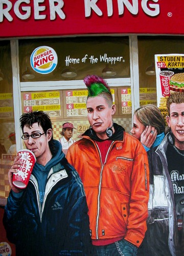 The-burger-kings---acrylique-sur-bois---61,5-x-43,5-cm---2004