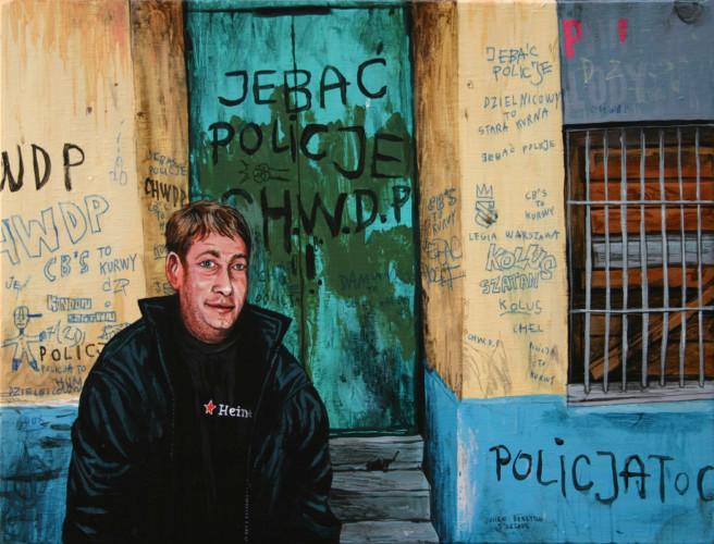 Varsovie,-Newa-Praga,-Stefan's-birthday---acrylique-sur-bois---20-x-30-cm---2005