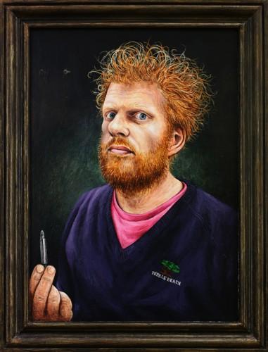 FEIKO - 2014, acrylique sur bois et cadre, 32,7 x 25 cm