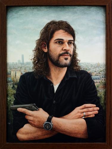 FRÉDÉRIC GROS - 2015, acrylique sur bois & cadre, 42 x 31 cm