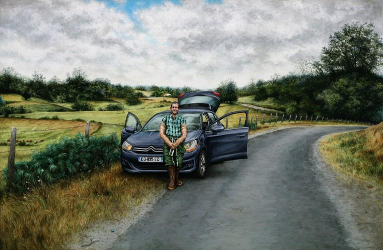 JEAN-PIERRE BARRET - 2015, acrylique sur papier, 33 x 48,2 cm