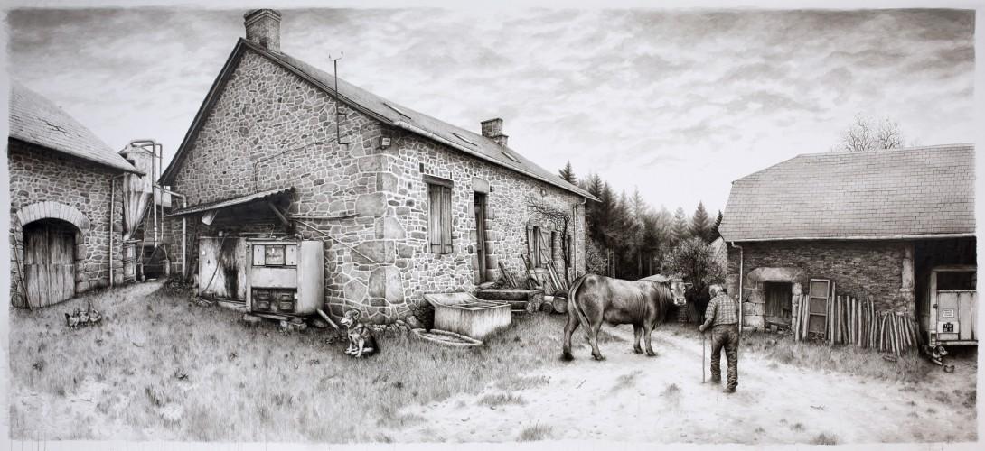 LIMOUSINE - 2015, acrylique sur toile libre, 220 x 485 cm