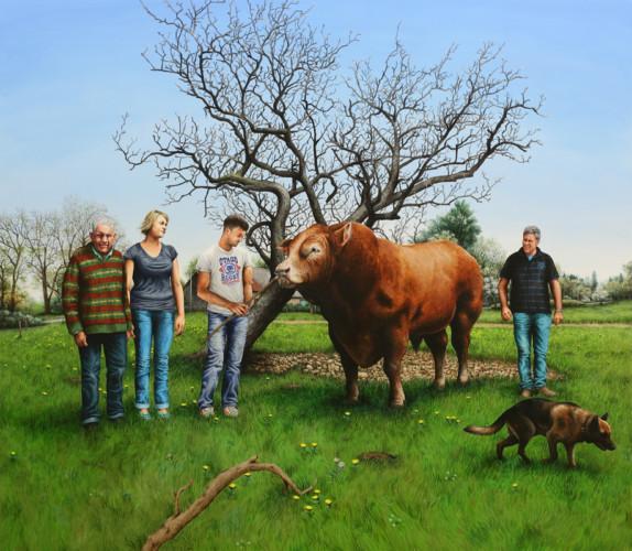 Les Bourbouloux (& Festival) - 2015, acrylique sur bois, 153 x 175 cm