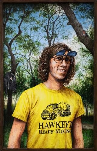 STEVEN JOUWERSMA - 2015, acrylique sur bois, 25,5 x 16 cm