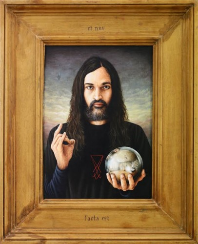 Et nox facta est - 2016, acrylic on wood and frame, 49 x 40 cm